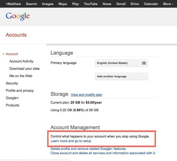 How to set up Google's Inactive Account Manager