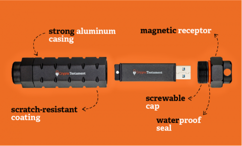 USB drive CryptoTestament will protect your digital legacy